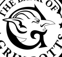 Gringotts Bank_Square Sticker