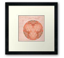 Thrive: Rose Quartz Mandala #1 Framed Print