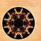 Spirit Rekindled: Ring of Fire Mandala by Gail Haile