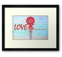 LOVE IS....(17) Framed Print