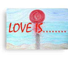 LOVE IS....(17) Canvas Print
