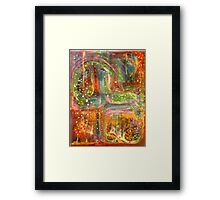 Other World Window Framed Print