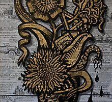 Vincent van Sharpie - Sunflower #1 by ReverendBJ