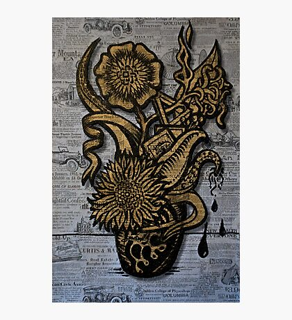 Vincent van Sharpie - Sunflower #1 Photographic Print