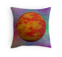 Red Planet In A Universe Of Plasma Throw Pillow
