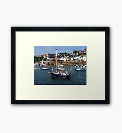 Man on a Boat Framed Print