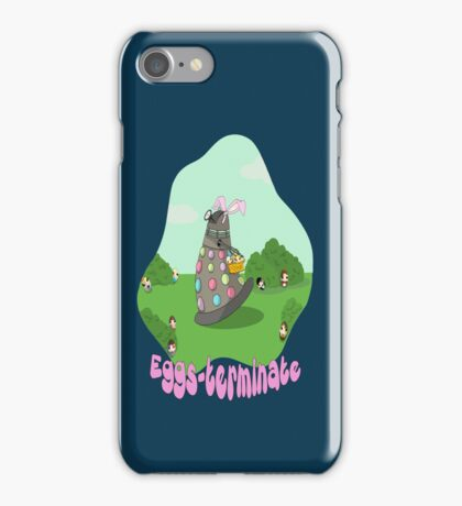 Original Art Eggs-Terminate Doctor Who  iPhone Case/Skin