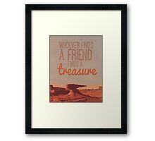 cars two, whoever finds a friend Framed Print