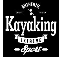 Kayaking Extreme Sport White Art Photographic Print