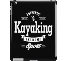 Kayaking Extreme Sport White Art iPad Case/Skin