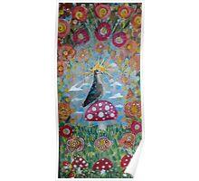 Magical Garden Bird Poster