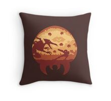 Escape from Zebes Throw Pillow