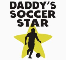 Daddy's Soccer Star Baby Tee
