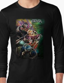 2014 TMNT Ninja Turtles movie poster shirt Long Sleeve T-Shirt
