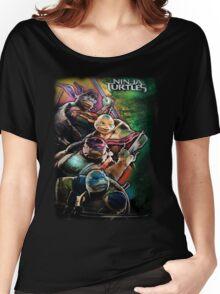 2014 TMNT Ninja Turtles movie poster shirt Women's Relaxed Fit T-Shirt