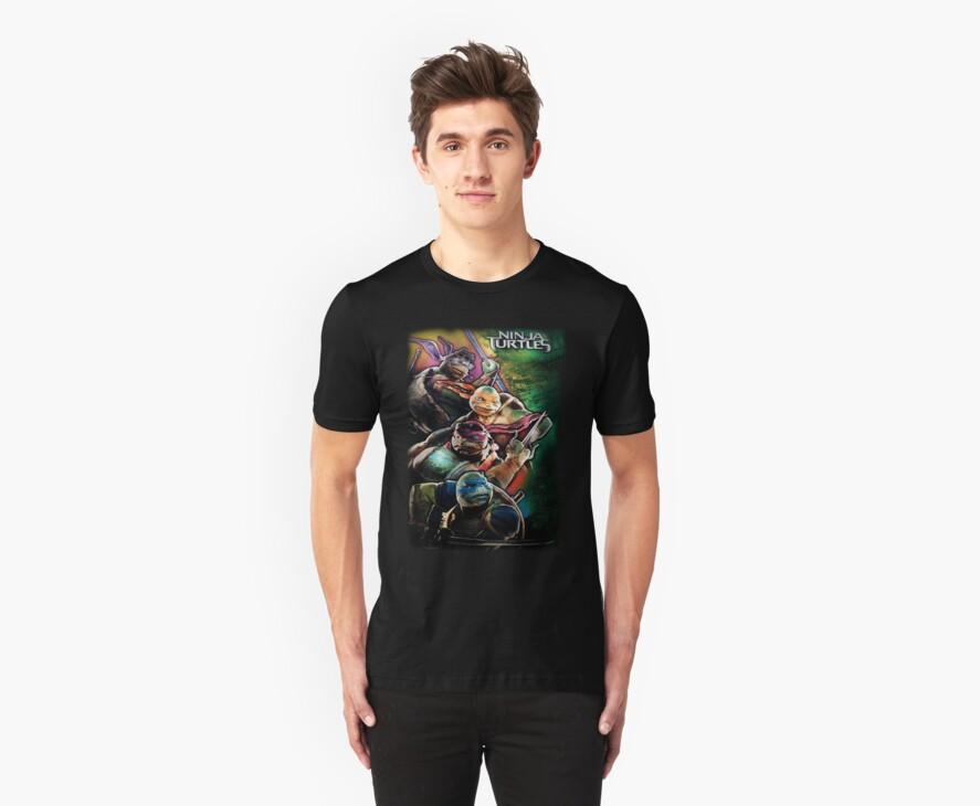 2014 TMNT Ninja Turtles movie poster shirt by Jacob King