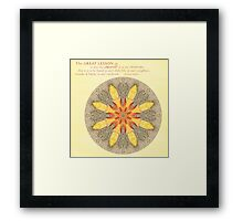 Sacred in the Ordinary:  Beach Still Life Mandala Framed Print