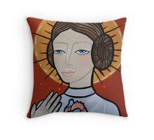 Princess Leia as Virgin Mary Throw Pillow