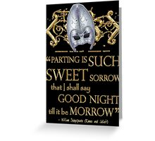 Shakespeare Romeo & Juliet Sweet Sorrow Quote Greeting Card