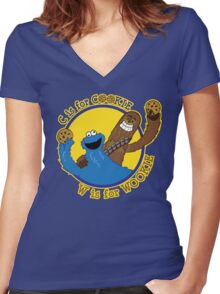 Cookie & Wookie Women's Fitted V-Neck T-Shirt