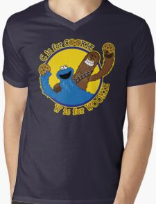 Cookie & Wookie Mens V-Neck T-Shirt