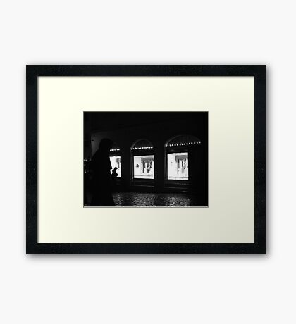 Window Shop Framed Print