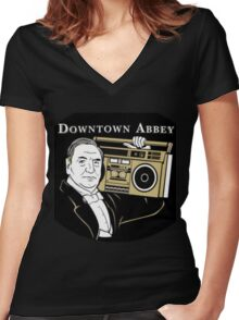 Downton Abbey Women's Fitted V-Neck T-Shirt
