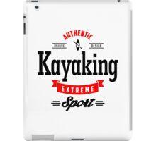 Kayaking Extreme Sport B&R Art iPad Case/Skin