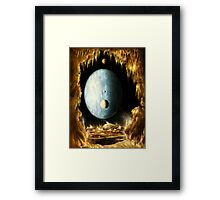 This planet spins REALLY REALLY REALLY FAST! Framed Print