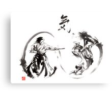 Aikido federation show double enso fight line circle martial arts japan  Metal Print