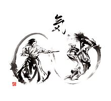 Aikido federation show double enso fight line circle martial arts japan  Photographic Print