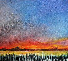 Imaginary Sunset Sketch by Martin Kirkwood