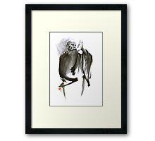 Morihei Ueshiba Sensei Aikido martial arts art japan japanese master sum-e portrait founder Framed Print