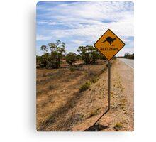 Beware Kangaroos. Canvas Print