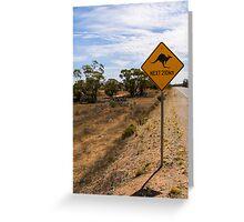 Beware Kangaroos. Greeting Card