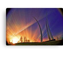 Sunset-AF Memoria Washington, DC Canvas Print