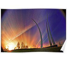 Sunset-AF Memoria Washington, DC Poster