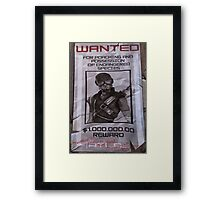 Mordecai Wanted Poster  Framed Print