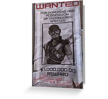 Mordecai Wanted Poster  Greeting Card