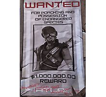 Mordecai Wanted Poster  Photographic Print