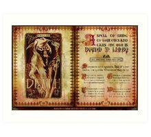 Madame Leota's Spell Book by Topher Adam Art Print