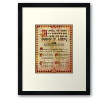 Madame Leota's Spell Book Page Two by Topher Adam Framed Print