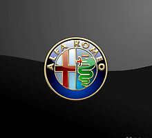 Alfa Romeo 3D Badge-Logo on Black by Captain7