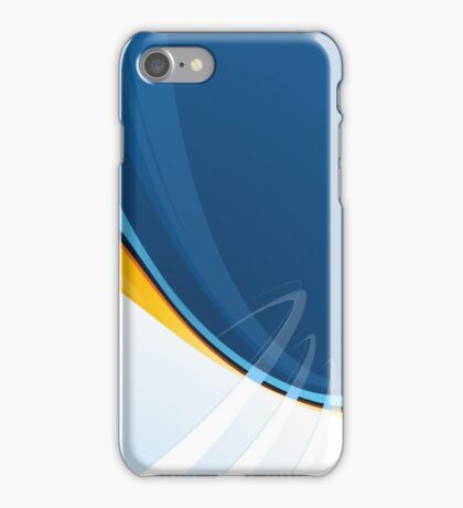Techno Blue Abstract Pop Graphic iPhone Case/Skin