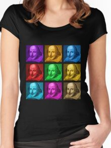 William Shakespeare Pop Art Women's Fitted Scoop T-Shirt