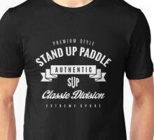 Stand Up Paddle Extreme Sport White Design Art Unisex T-Shirt