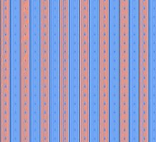 Pink/Blue Stripe Phone Case by Ensore Industries