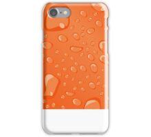 Water Droplets Orange iPhone Case/Skin