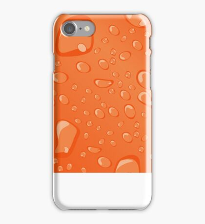 Water Droplets Orange iPhone Case/Skin
