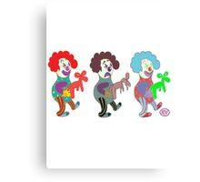 happy sad clowns Canvas Print